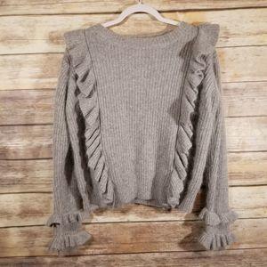 POL Victorian Ruffle Knit Sweater